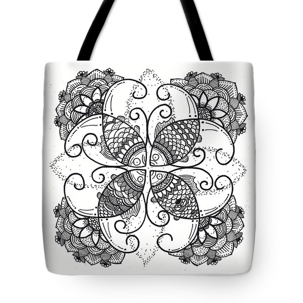 Together We Flourish - Ink Tote Bag