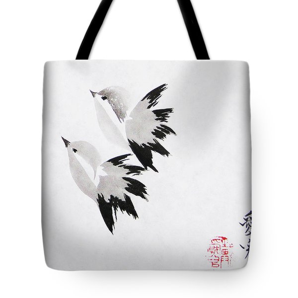 Together We'll Fly Side By Side Tote Bag