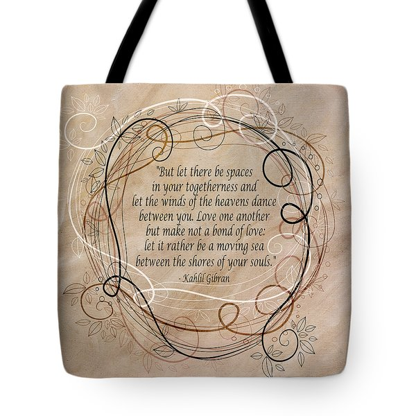 Tote Bag featuring the digital art Togetherness by Angelina Vick