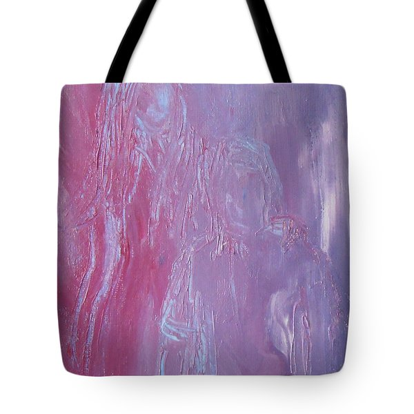 Tote Bag featuring the painting Togetherness by Jane See