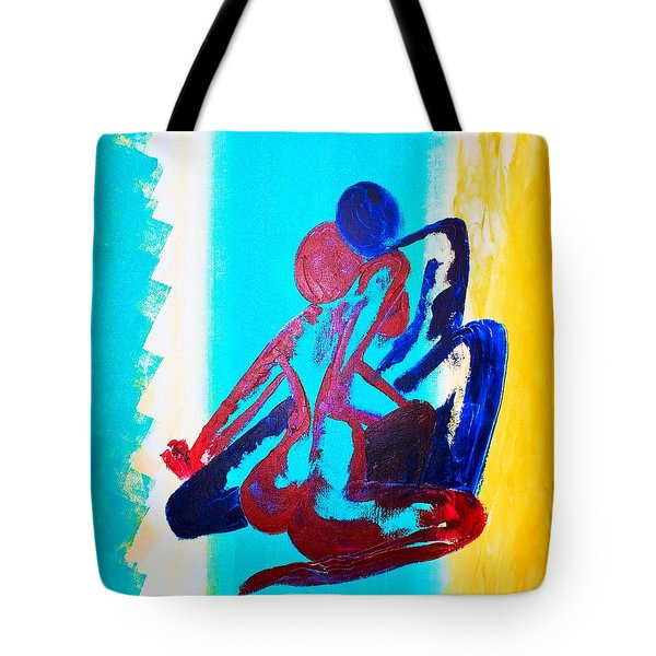 Tote Bag featuring the painting Togetherness by Piety Dsilva