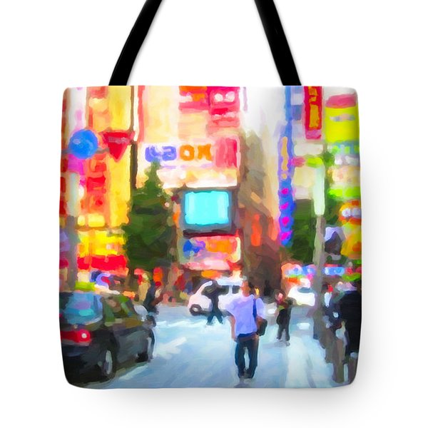 Tote Bag featuring the painting Tokyo by Chris Armytage