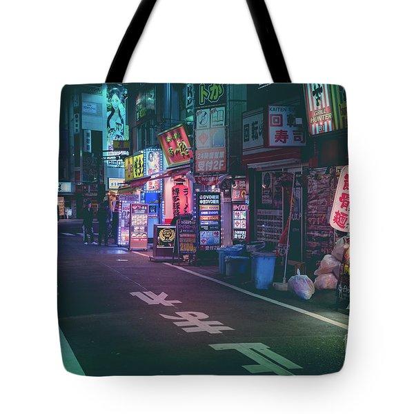 Tokyo Side Streets, Japan Tote Bag