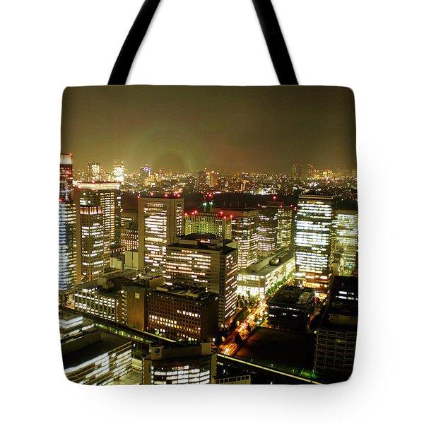 Tokyo Skyline Tote Bag by Nancy Ingersoll