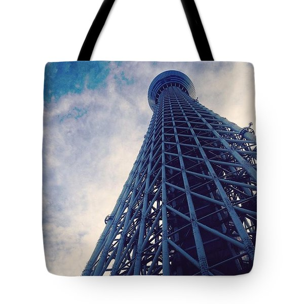 Skytree Tower From The Bottom, Tokyo, Japan Tote Bag