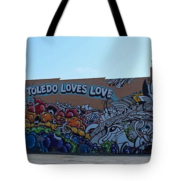 Toledo Loves Love Tote Bag