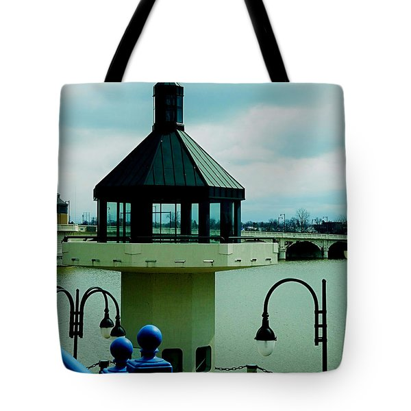 Toledo Ohio Bridge Tote Bag