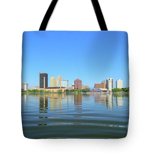 D12u-673 Toledo Ohio Skyline Photo Tote Bag
