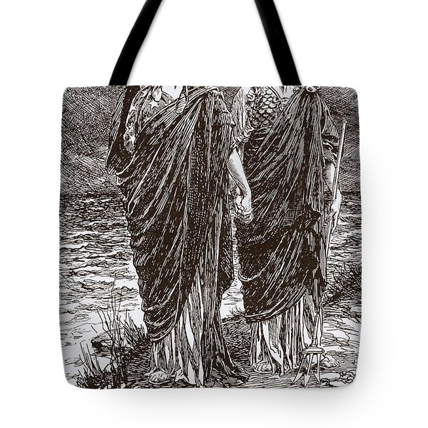 Toll Of The Sea Poem And Allegorical Tote Bag