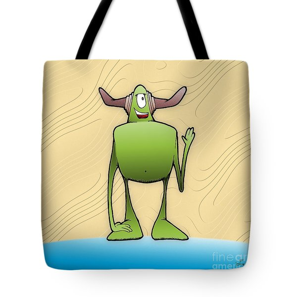Tote Bag featuring the drawing Tollak by Uncle J's Monsters