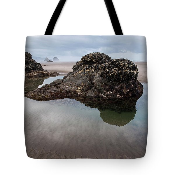 Tolovana Beach At Low Tide Tote Bag