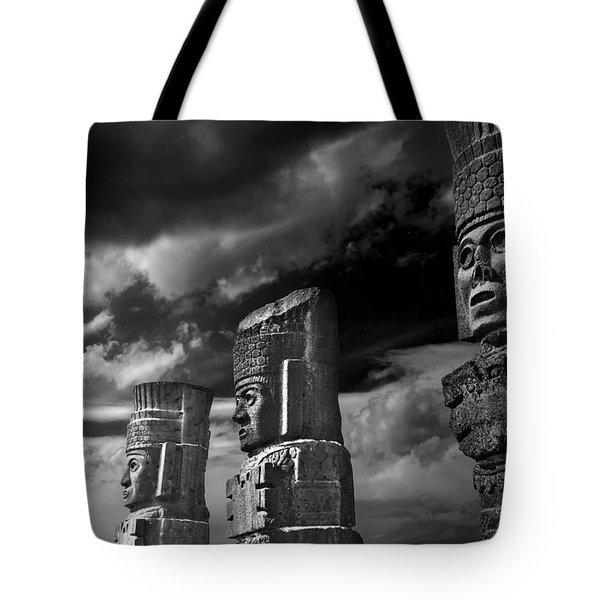 Toltec Warriors Of Tula Tote Bag