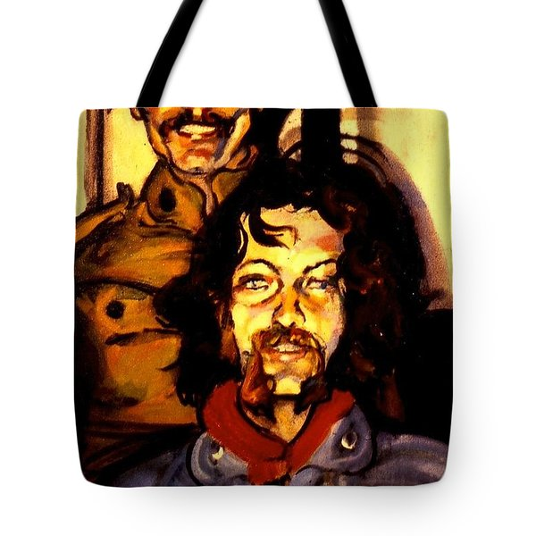 Tote Bag featuring the painting Tom And Doug by Les Leffingwell