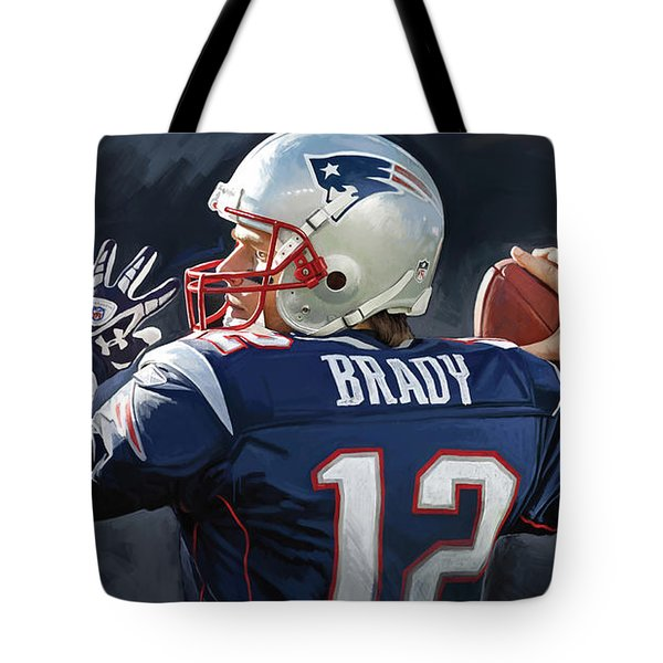 Tom Brady Artwork Tote Bag