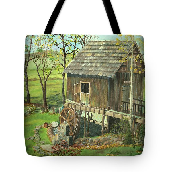 Tom Lott's Mill In Georgia Tote Bag