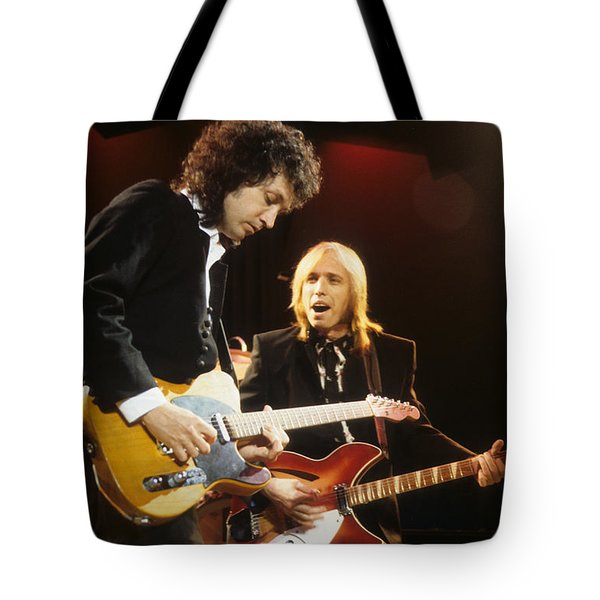 Tom Petty And Mike Campbell Tote Bag