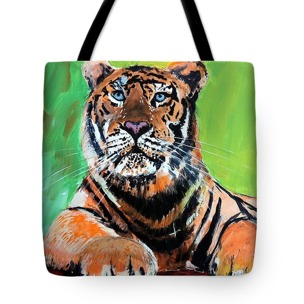 Tom Tiger Tote Bag by Tom Riggs