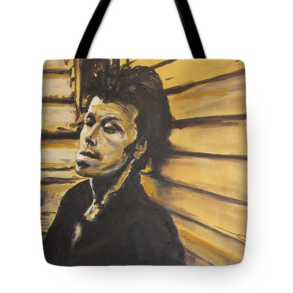 Tote Bag featuring the painting Tom Waits by Eric Dee