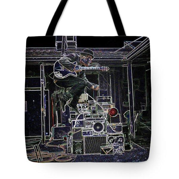 Tom Waits Jamming Tote Bag