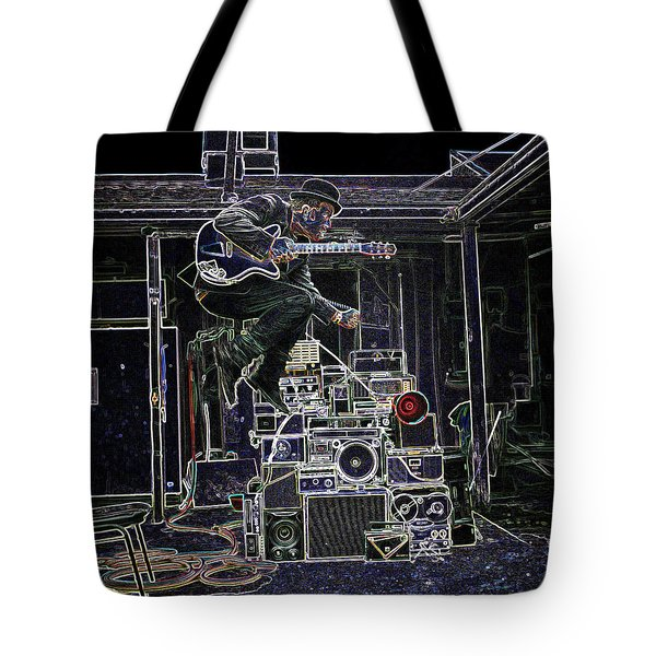 Tom Waits Jamming Tote Bag