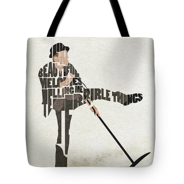 Tote Bag featuring the digital art Tom Waits Typography Art by Inspirowl Design