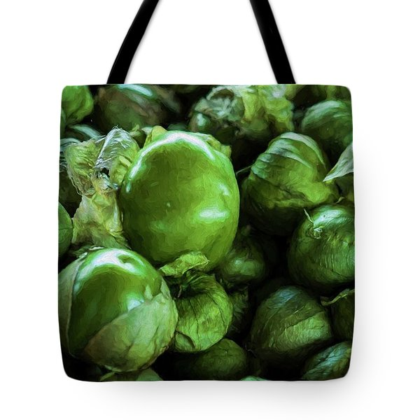 Tote Bag featuring the photograph Tomatillo 3 by Travis Burgess