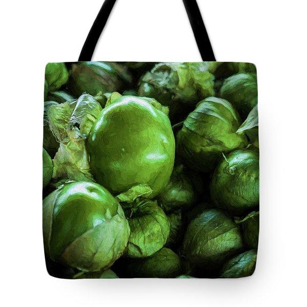 Tomatillo 3 Tote Bag by Travis Burgess