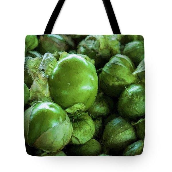 Tomatillo 4 Tote Bag by Travis Burgess