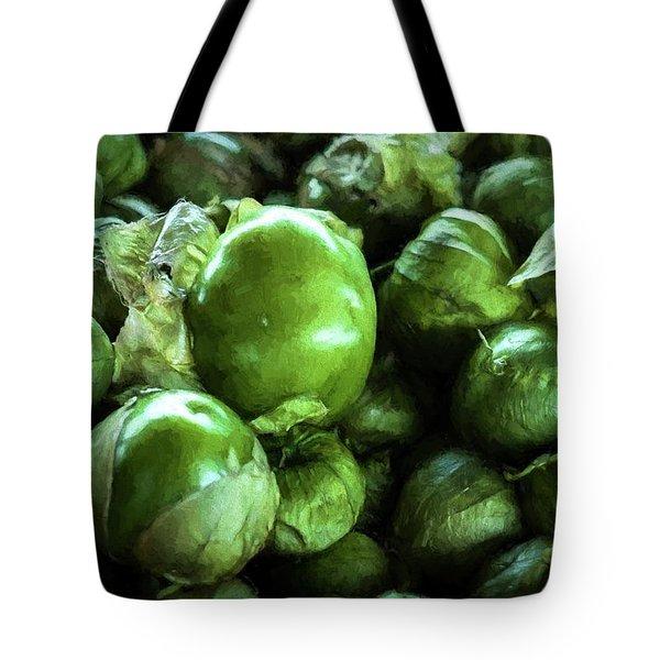 Tomatillo 5 Tote Bag by Travis Burgess