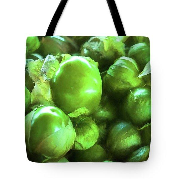 Tomatillo 6 Tote Bag by Travis Burgess