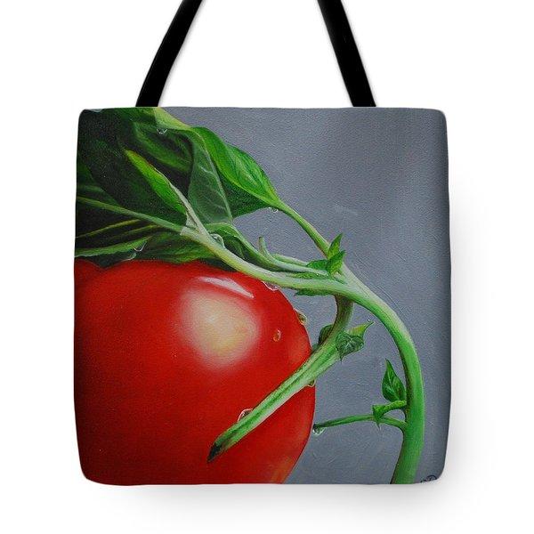 Tomato And Basil Tote Bag