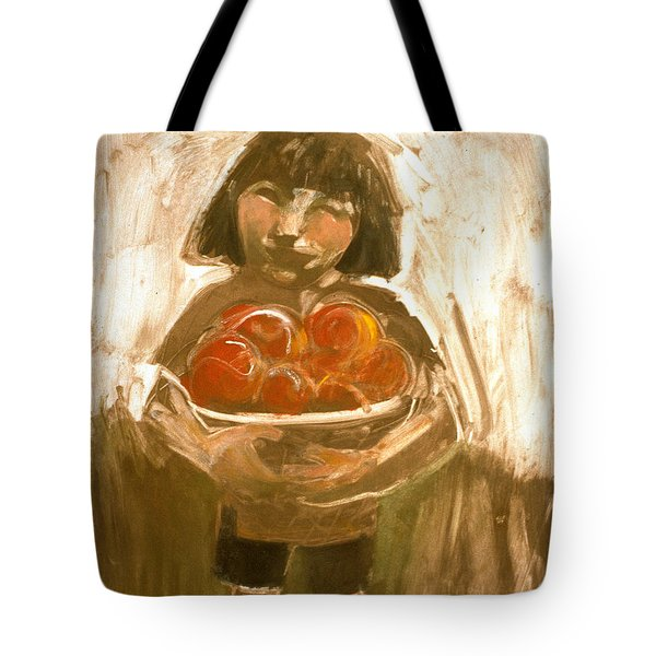 Tomato Girl Tote Bag