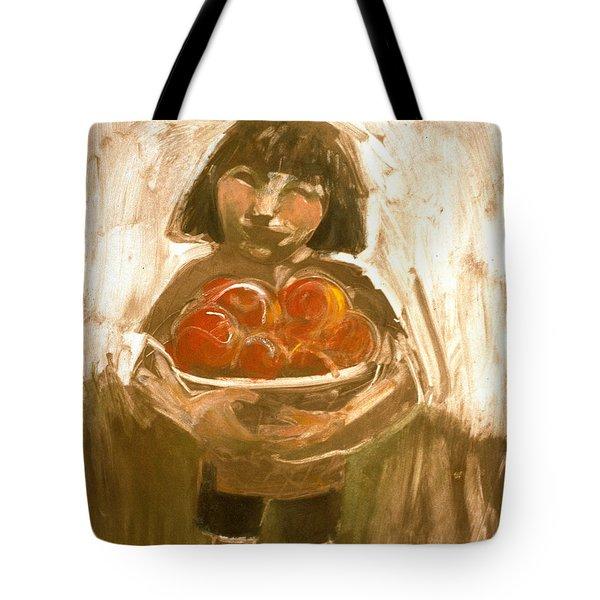 Tomato Girl Tote Bag