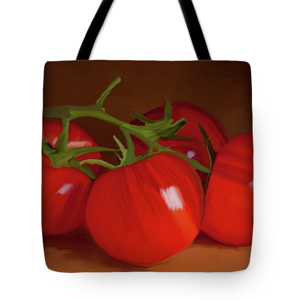 Tomatoes 01 Tote Bag by Wally Hampton