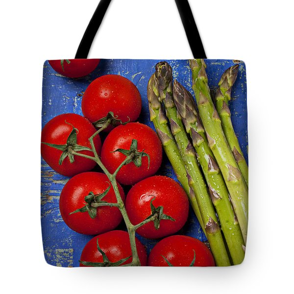 Tomatoes And Asparagus  Tote Bag by Garry Gay