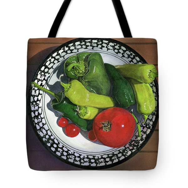 Tomatoes And Peppers  Tote Bag