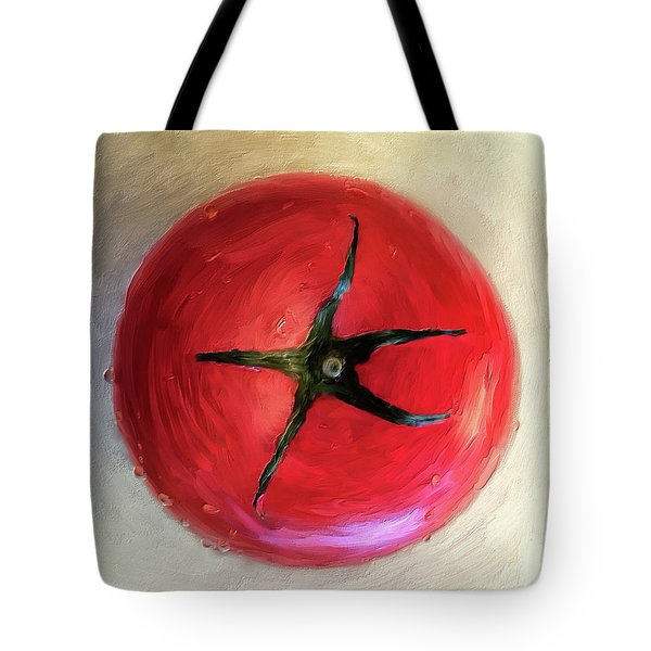 Tote Bag featuring the digital art Tomato by Lois Bryan