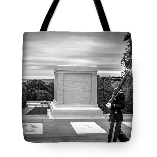 Tote Bag featuring the photograph Tomb Of The Unknown Solider by David Morefield