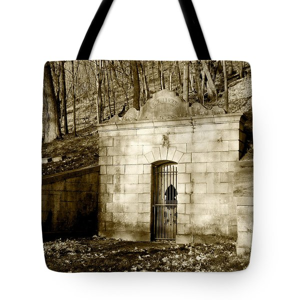 Tomb With A View In Sepia Tote Bag