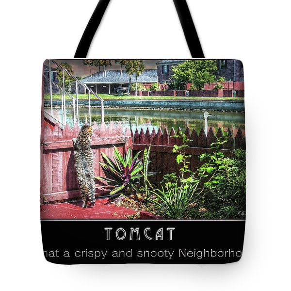 Tote Bag featuring the photograph Tomcat Breakfast by Hanny Heim