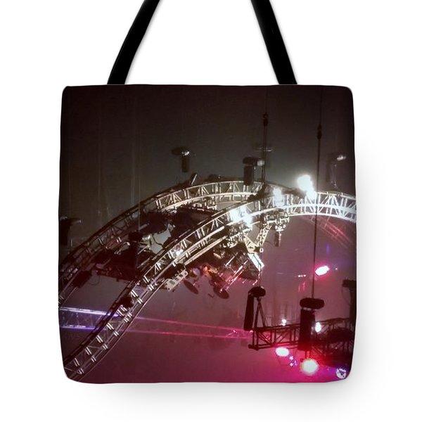 Tommy Lee Motley Crue Farewell Tour Brooklyn N Y 2015 Or Flying Drums Tote Bag