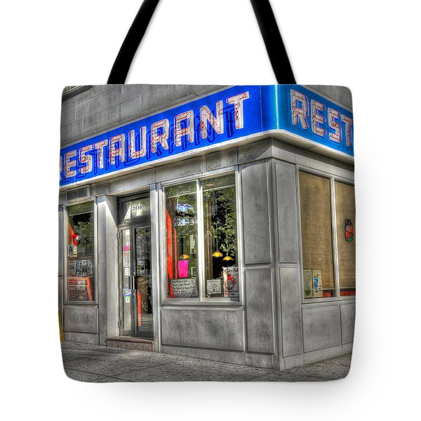 Tom's Restaurant Of Seinfeld Fame Tote Bag by Randy Aveille