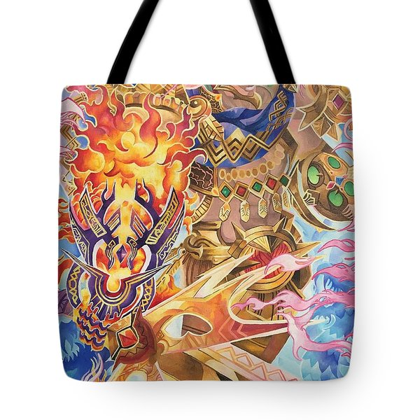 Tonatiuh - Ruler Of Tollan , The Fifth Sun Tote Bag
