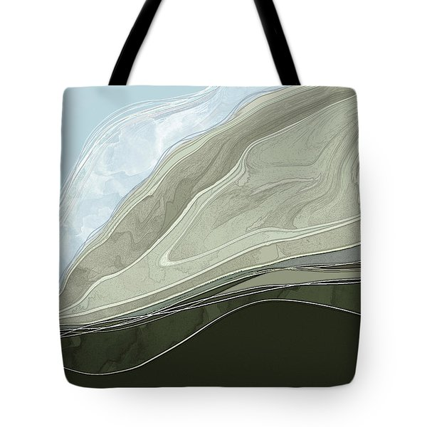 Tote Bag featuring the digital art Tone Poem by Gina Harrison