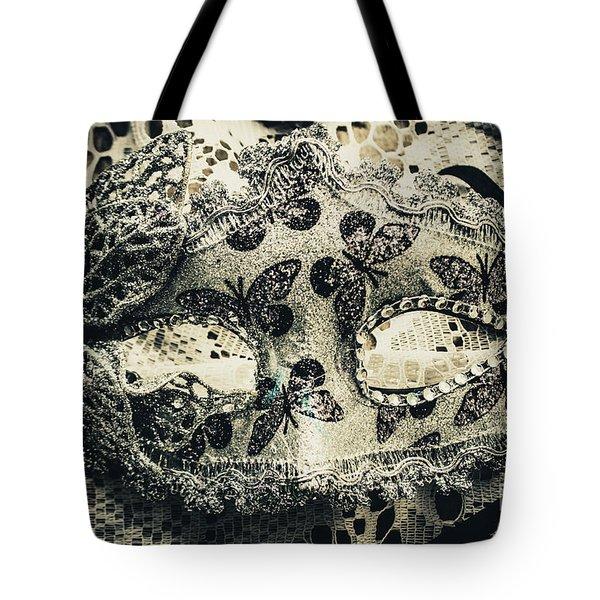 Toned Image Of Beautiful Festive Venetian Mask Tote Bag