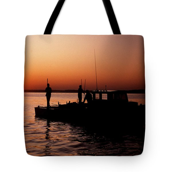 Tonger's Sunrise Tote Bag by Skip Willits
