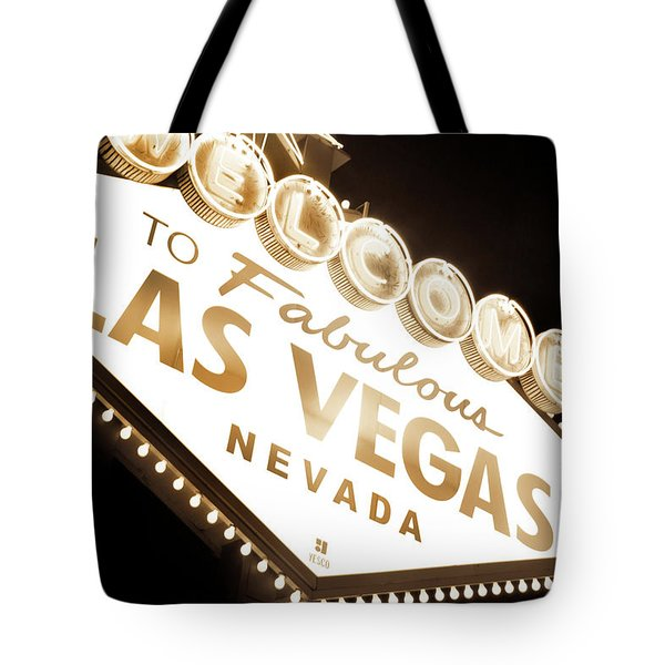 Tonight In Vegas Tote Bag