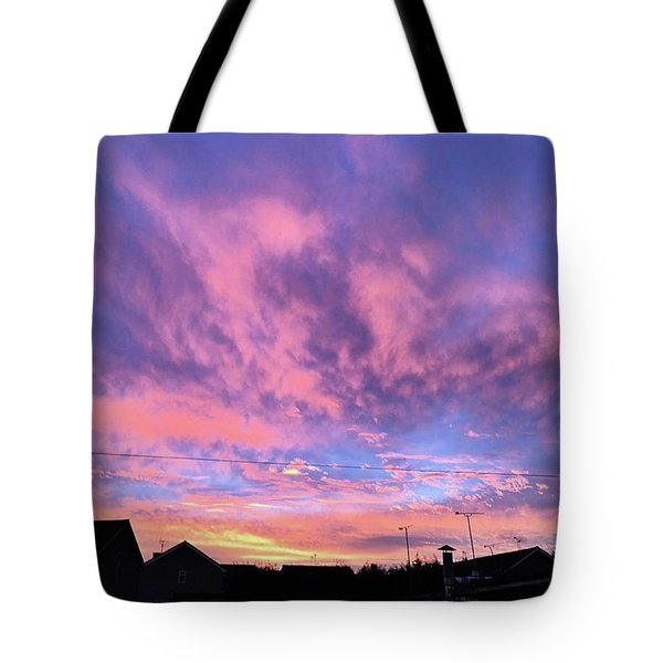 Tonight's Sunset Over Tesco :) #view Tote Bag by John Edwards