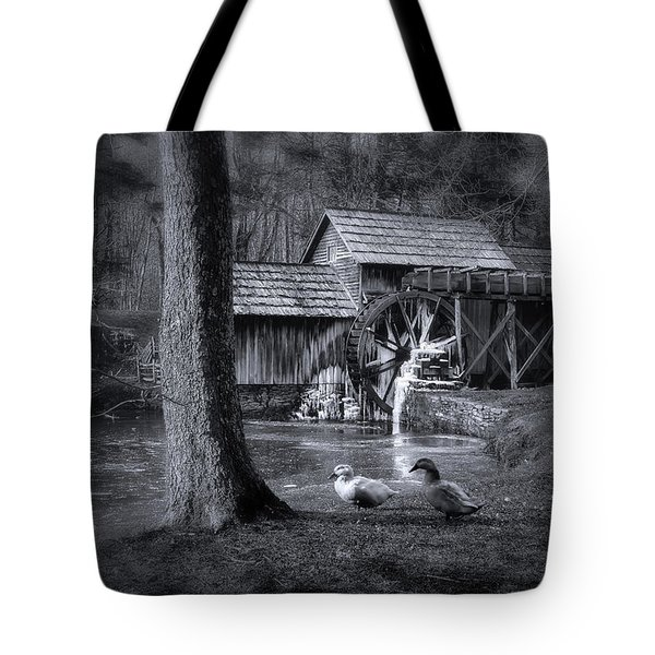 Too Cold For The Ducks Tote Bag