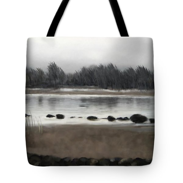 Tote Bag featuring the painting Too Early Out by Ivana